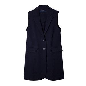 Школьная форма Жилет (7-20)-удлинённый, на двух пуговицах, с двумя накладными карманами синий габардин 60124
