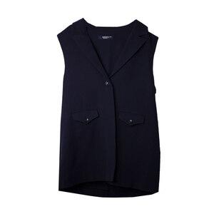 Школьная форма Жилет (7-20)-удлинённый, на одной пуговице,два кармана,английский воротник синий габардин 60097