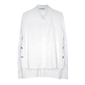 Школьная форма Блузка (9-20)-д/р,сбоку 3 металических пуговицы, спинка длиннее белый хлопок 11704