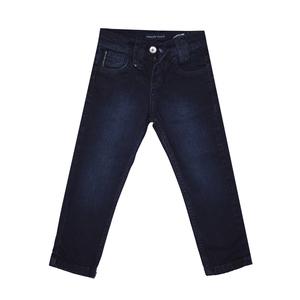 Джинсы (92-170)-вываренные,с выдавленной  эмблемой   на заднем кармане синий хлопок 3047