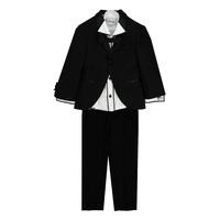 Cмокинг (2-5)-4-ка ( брюки+рубашка+бабочка) чёрный 111-2