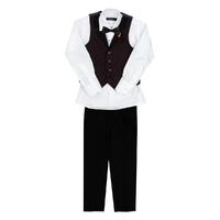 Комплект (6-10)-4-ка ( жилет+чёрные брюки+рубашка+бабочка) бордо 337-2