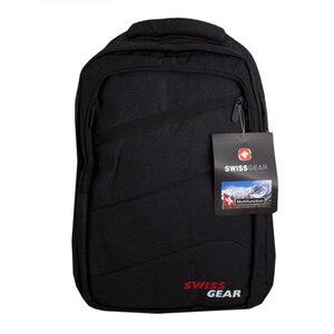 Рюкзак (ортопедический) -на кармане- молния по диагонали ,с  зарядкой, красно-белая надпись чёрный 9391