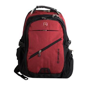 Рюкзак (ортопедический) -на кармане -замок по диагонали, с иммитацией фильтра, с наушниками и зарядкой бордовый 7657