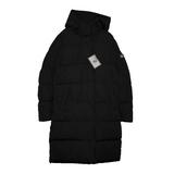 Куртка (128-164) - стеганная, с капюшоном, на спине надпись черный биопух 918601-Q