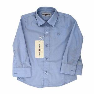 Рубашка (2-6)-д/р,классика голубой 101