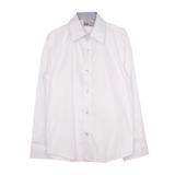 Школьная форма Рубашка (122-170)-к/р, отделка внутри-синяя крапинка, пуговицы с надписью белый 70744-S