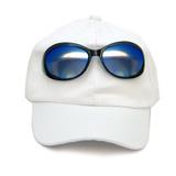 Кепка ( с очками) белый хлопок 023