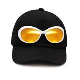 Кепка ( с очками) чёрный хлопок 023