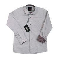Рубашка (6-14)-д/р, крапинка, с платочком бордовый хлопок 1 1090-3