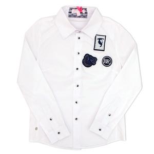 Школьная форма Блузка (15-23)-д/р, Эмблемки белый хлопок 561277
