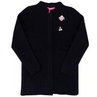 Школьная форма Жакет (13-21)- на клёпках,с двумя карманами, брошкой розочкой чёрный шерсть 2025