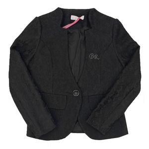 Школьная форма Пиджак (13-21)-на одной пуговице чёрный гипюр 561345