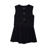 Школьная форма Костюм (5-14)-2-ка, жилет на 2-х пуговицах, кармашек-ракушка, юбка солнце на резинке синий габардин 41036/60184