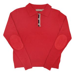 Школьная форма Кофта (13-21)-с воротником, на планке серо-синяя полоска красный шерсть 1004