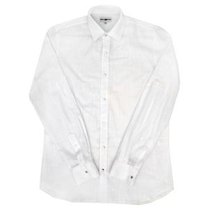 Рубашка (16-18)-д/р,на клепках белый хлопок со льном 023/347