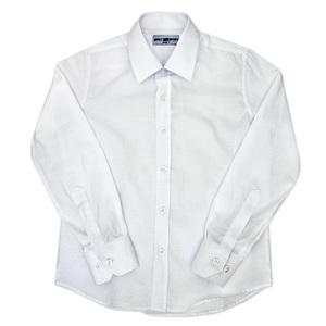 Школьная форма Рубашка (7-16)-д/р,с потайной мелкой клеточкой белый хлопок 6033