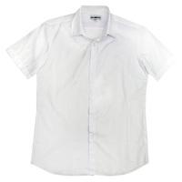 Школьная форма Рубашка (6-15)-к/р,гладкая с эмблемой белый хлопок 1020