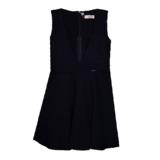 Школьная форма Сарафан (122-160)-V-образный вырез,юбка полусолнце с карманами, замок на спинке синий 184864