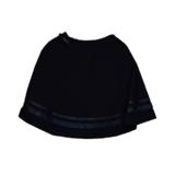 Школьная форма Юбка (130-165)-резинка по спинке,полусолнце, 2 блестящие полоски снизу синий 184621