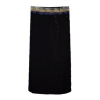 Школьная форма Юбка (130-165)-удлинённая,гафре,на блестящей резинке с цепочкой синий 184856