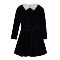 Школьная форма Платье (122-160)-с белым воротником, д/р,пышная юбка, синий пояс синий 184175