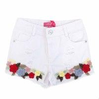 Bear Richi Шорты (13-21) дранки, вышивка разноцветных цветов белый хлопок 782234