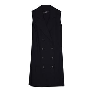 Школьная форма Сарафан (9-18)-двубортная застёжка, металлические пуговицы, юбка в складку синий габардин 70855