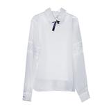 Школьная форма Блузка (7-20)-д/р с кружевной вставкой,с топом,застёжка на спинке белый шифон 11978