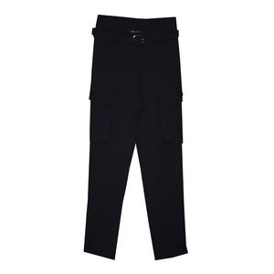 Школьная форма Брюки (9-18)-на тканевом поясе,с карманами -портфелями с боку синий габардин 50410