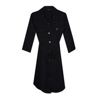 Школьная форма Платье (9-20)-халат,с 2-мя карманами , на металлических пуговицах,с поясом синий габардин 70881