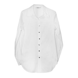 Школьная форма Блузка (9-20)-к/р,удлинённая  классика, рукав собирается в 3/4 белый сатен 11881