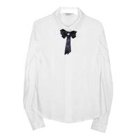 Школьная форма Блузка (5-20)-д/р, классика белый сатен 11945