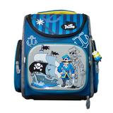 Рюкзак (ортопедический)-Пират на жёстком кармане,  с брелком -Минион синий 3-116