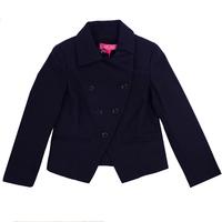 Пиджак (11-19)-двубортный, косуха синий габардин 781685-2
