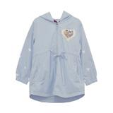 Плащ (3-11)-с капюшёном,рукава сердечки, сердечко из паеток, на спинке апликация голубой 1 782932