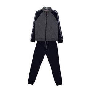 Школьная форма Костюм (134-164)- спортивный , кофта без  капюшона с синими рукавами , брюки синие на манжете серый 1 70745