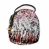 Сумка -рюкзак, вышитый паетками, с золотыми замками золото хлопок 2059