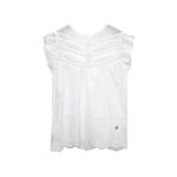 Блуза (128-158)- шитьё, вставки из мерешки, рукав крылышко-шитьё белый 1 319140-G