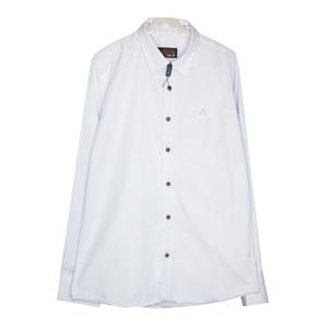 Рубашка (6-14)-д/р,отделка на воротнике и манжете-клеточка,синие с красным -пуговицы голубой 1 1205-3