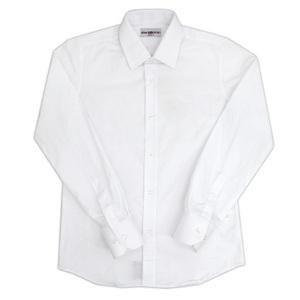 Рубашка (7-16)-д/р в крапинку белый хлопок 6039