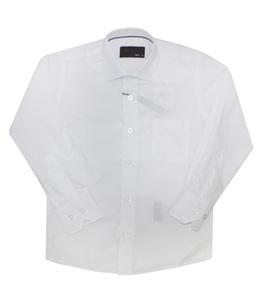 Школьная форма Рубашка (6-14) - д/р, кармашек слева белый хлопок 97