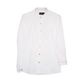 Рубашка (15-18)-д/р,крапинка,синяя и красная отстрочка внутри воротника и манжета,  на кнопках белый 1 1109-1