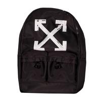 Рюкзак (большой)-со стрелками, застежка на молнии сверху, два передних кармана черный с белым F001