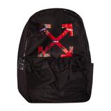 Рюкзак (большой)-со стрелками, застежка на молнии сверху, два передних кармана черный с красным F001