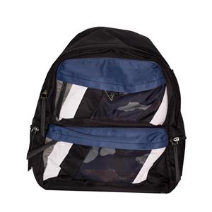 Рюкзак (ортопедический)- с жёстким с отливом карманом, серая вставка и 2-серые стрелки, серый кант синий Х672