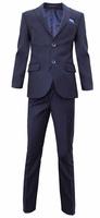 Школьная форма Костюм (15-18) - 2-ка укороченная с платочком синий 2020-1