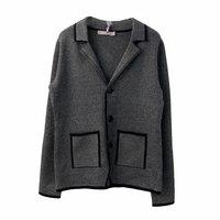 Школьная форма Пиджак (17-25)-на 3-х чёрных пуговицах, с двумя карманами и чёрной отделкой серый 385035
