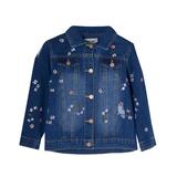 Куртка джинсовая (3-10)-M-CAМ, рванка, мелкий цветочек синий хлопок 18042