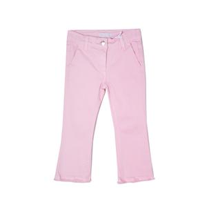 Джинсы (98-128)-клёш , необработанный край розовый 919082-Р